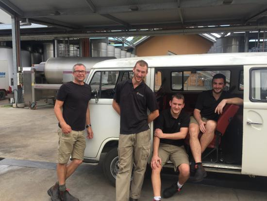 Greenock, Australia: The Vintage 2016 Crew with Craig Viney and the funny bus!