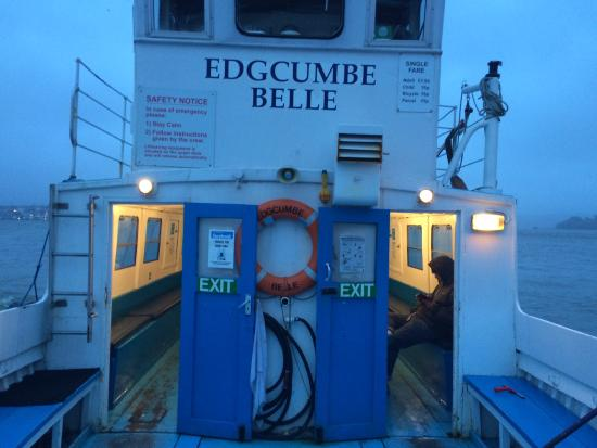 Torpoint, UK: Last ferry home on cold wet night