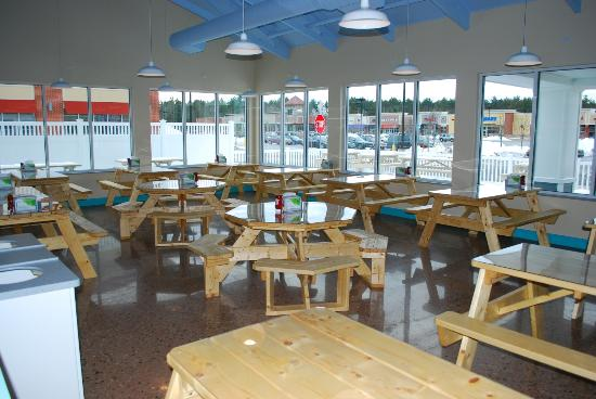 A view of the dining room at our new Route 125 Epping, NH restaurant.