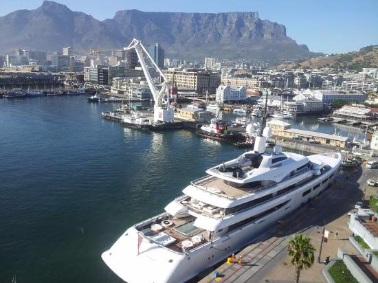 The Table Bay Hotel: The VAVA II. Picture taken from our 8th floor room.