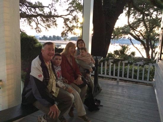 Georgetown, SC: Sitting on the Joggling Board, front porch overlooking the river