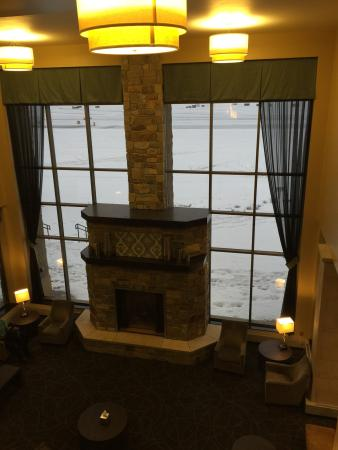 Bemidji, MN: View of the lobby over looking the lake.
