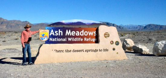 Amargosa Valley, NV: Welcome sign to Ash Meadows