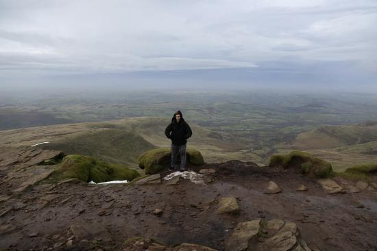 Brecon Beacons National Park, UK: At the top of Pen-y-fan