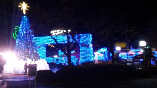 Santa Clarita, CA: One part of the park was all blue lights!!! loved them
