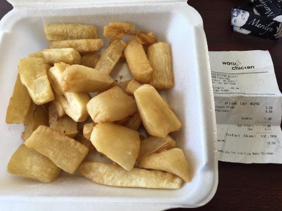 Waldorf, MD: Almost $13 for 2 sides, and barely filled the box with Yuca..