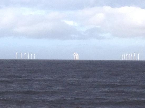 New Brighton, UK: Wind power off the Wirral