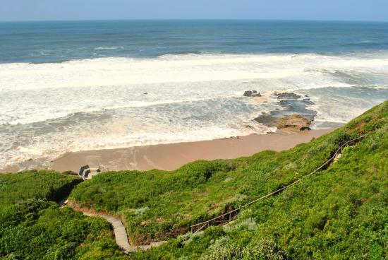 Wilderness, South Africa: the boardwalk down to the secluded beach