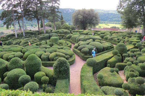 Vezac, France: Marqueyssac: What the hedges looked like after we laid them all out.
