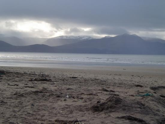 Inch, Ireland: from the From the far side looking south toward Kerry and the Macgillaguddy Reeks