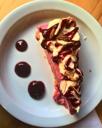 Province of Heredia, Costa Rica: Berry mouse cake. One of my absolute favorites at Manani's