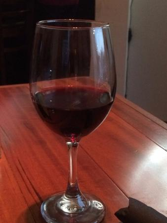 Palmyra, PA: house Merlot wine is delicious and only $6.50/glass