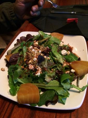 Palmyra, PA: Winter salad with yellow red beets and blue cheese crumbles (small)... delicious