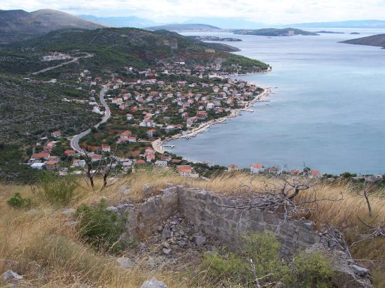 Marina, Croatia: Panoramic view from nearby hill