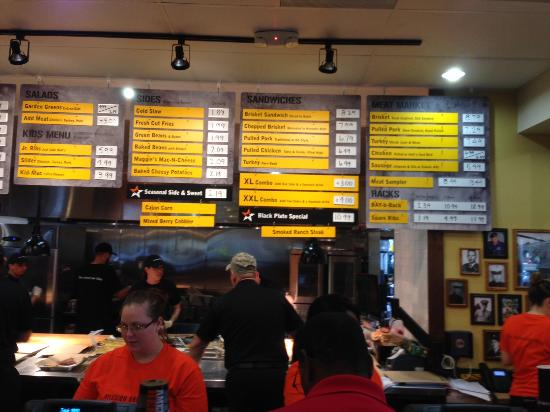 Davie, FL: Menu Items on a Board Above The Cooking & Serving Counter