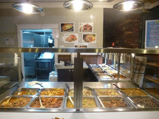 New Westminster, Canada: The counter with the displayed food