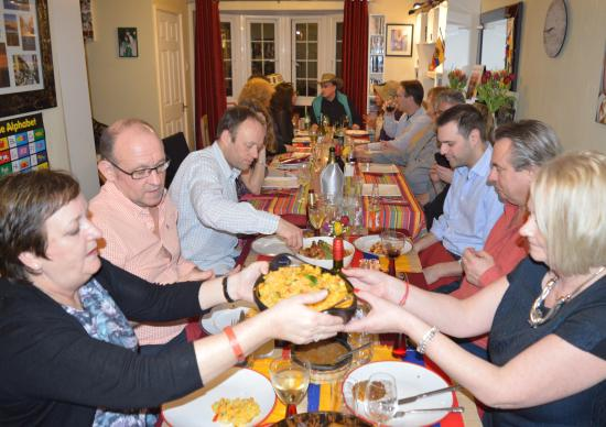Royal Tunbridge Wells, UK: dinner party