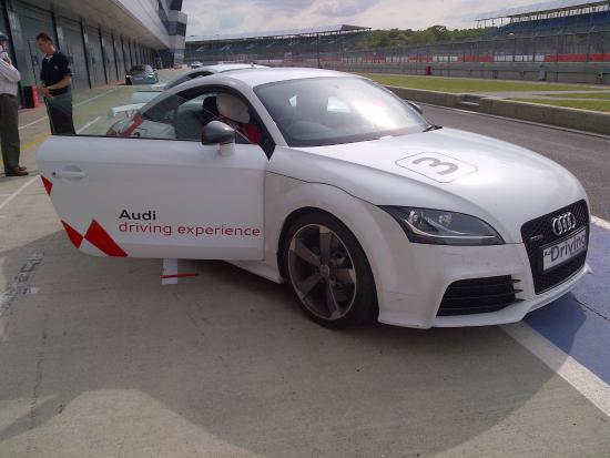 Silverstone, UK: TT RS Audi (my favourite car of all)