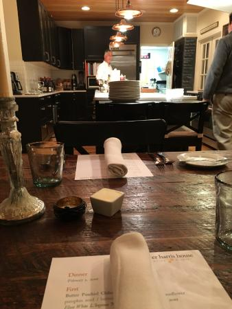 Washington, VA: Best seat in the house - the table in the kitchen!