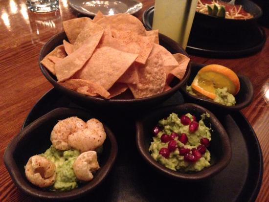 New Westminster, Canada: Trio of Guacamoles with house made chips
