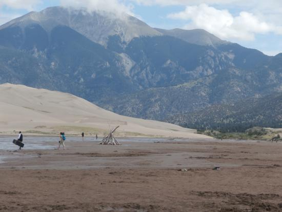 Alamosa, CO: Medano Creek is fed by snowmelt high in the Sangre de Cristo Mountains in the Colorado Rockies
