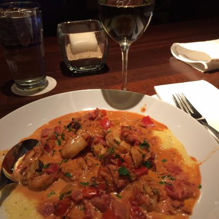 Lone Tree, CO: Shrimp Grits with Chorizo sausage