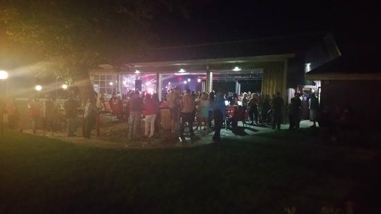 Detroit Lakes, MN: dRock City Music Venue. The venue opens to the park-like setting in the back of the Restaurant.