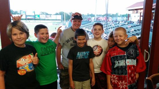 """Livin' the """"Suite"""" life with the Blue Crabs!"""