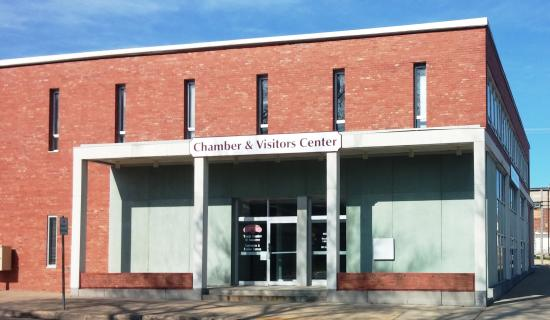 The Tomah Chamber & Visitors Center as seen from Kilbourn Ave