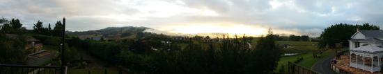 Cambridge, New Zealand: View from the Loft apartment.