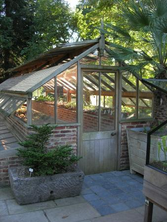 Leuven, Belgium: wooden hothouse for plants that need little water...