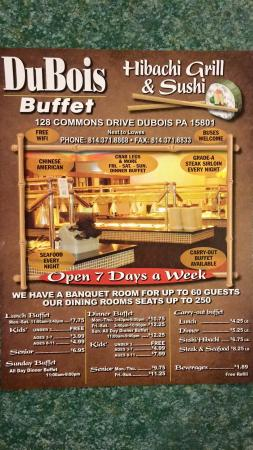 DuBois, PA: All you can eat.  All day long