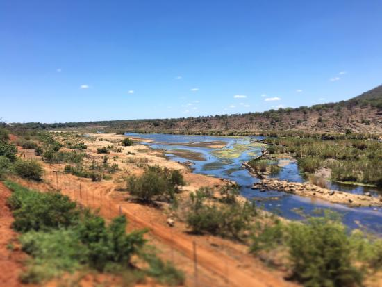 Komatipoort, South Africa: View over Kruger Park from the restaurant