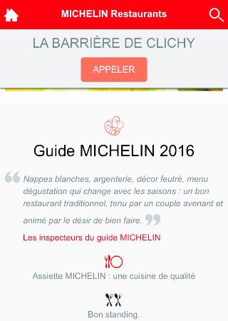 Clichy, France: Guide Michelin 2016