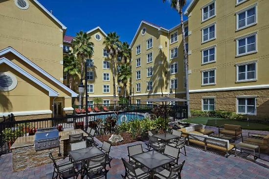 Outdoor Grill And Patio Area Picture Of Homewood Suites By Hilton Lake Mary Lake Mary