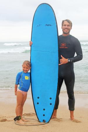Southbroom Surf Instructors with happy Students