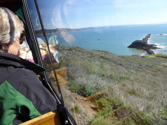 Avila Beach, CA: The view from the trolley...