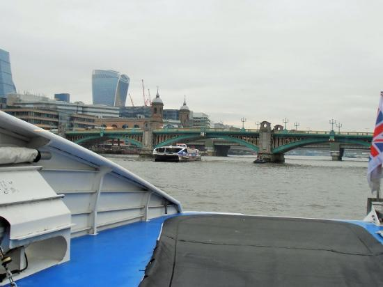 From Inside our Thames Clipper - Picture of MBNA Thames