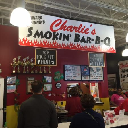 One of the great places inside the farmers market for Charlie s fish market