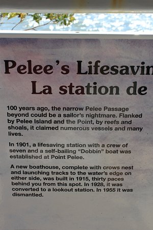info about the former lifesaving station - picture of point pele