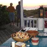 Stone-crab feast under our private gazebo