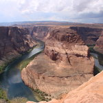 Horseshoe Bend by land and air http://www.youtube.com/user/honeymoon2southwest#p/a/u/1/8NxEFeo38