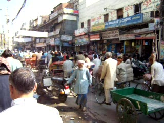 National Capital Territory of Delhi, India: A typical Delhi street