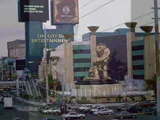 United States: Shots of hotels on The Strip in Las Vegas