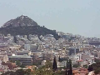 Attica, Greece: A 180 view of the city