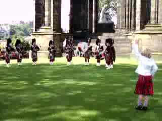 Edinburgh, UK: Police Band Performance