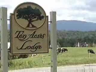 Ten Acres Lodge, Stowe VT  in summer