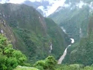 Sacred Valley, Peru: View of Nth side of valley from ruins