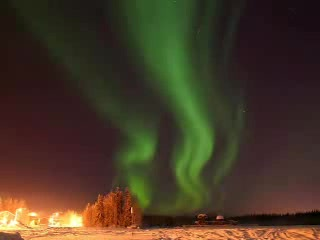 North Pole, AK: Northern Lights over Fairbanks