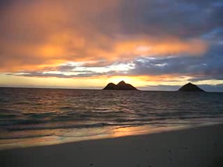 Kailua, HI: Sunrise Lanikai